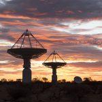 ASKAP at sunset. Credit: ASKAP/CSIRO, image by Pete Wheeler, ICRAR.